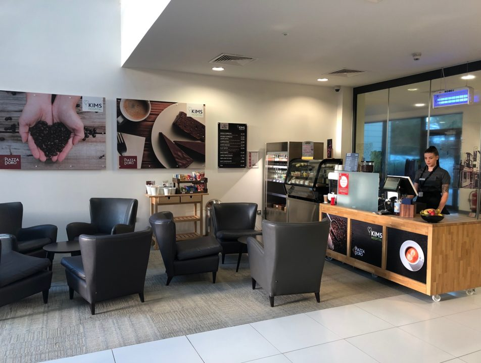 KIMS Hospital Coffee pod area for snacks and hot drinks