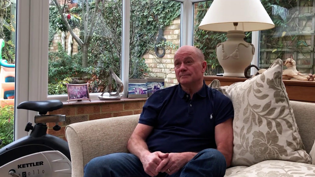 Patient story Colin Knee replacement at his home