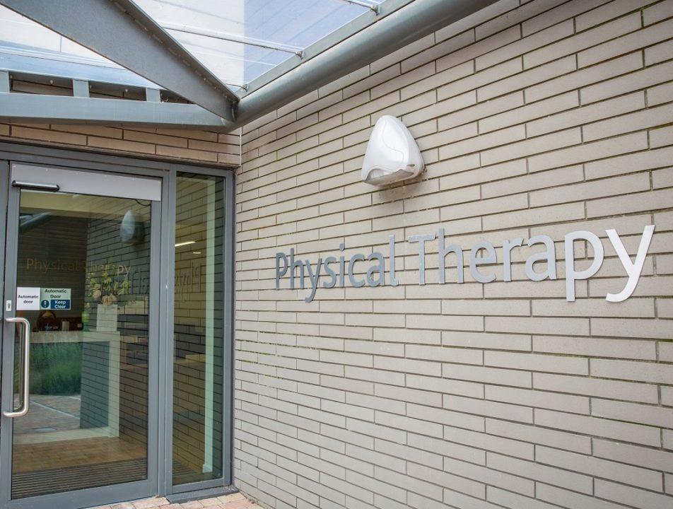Physical therapy department entrance at KIMS Hospital