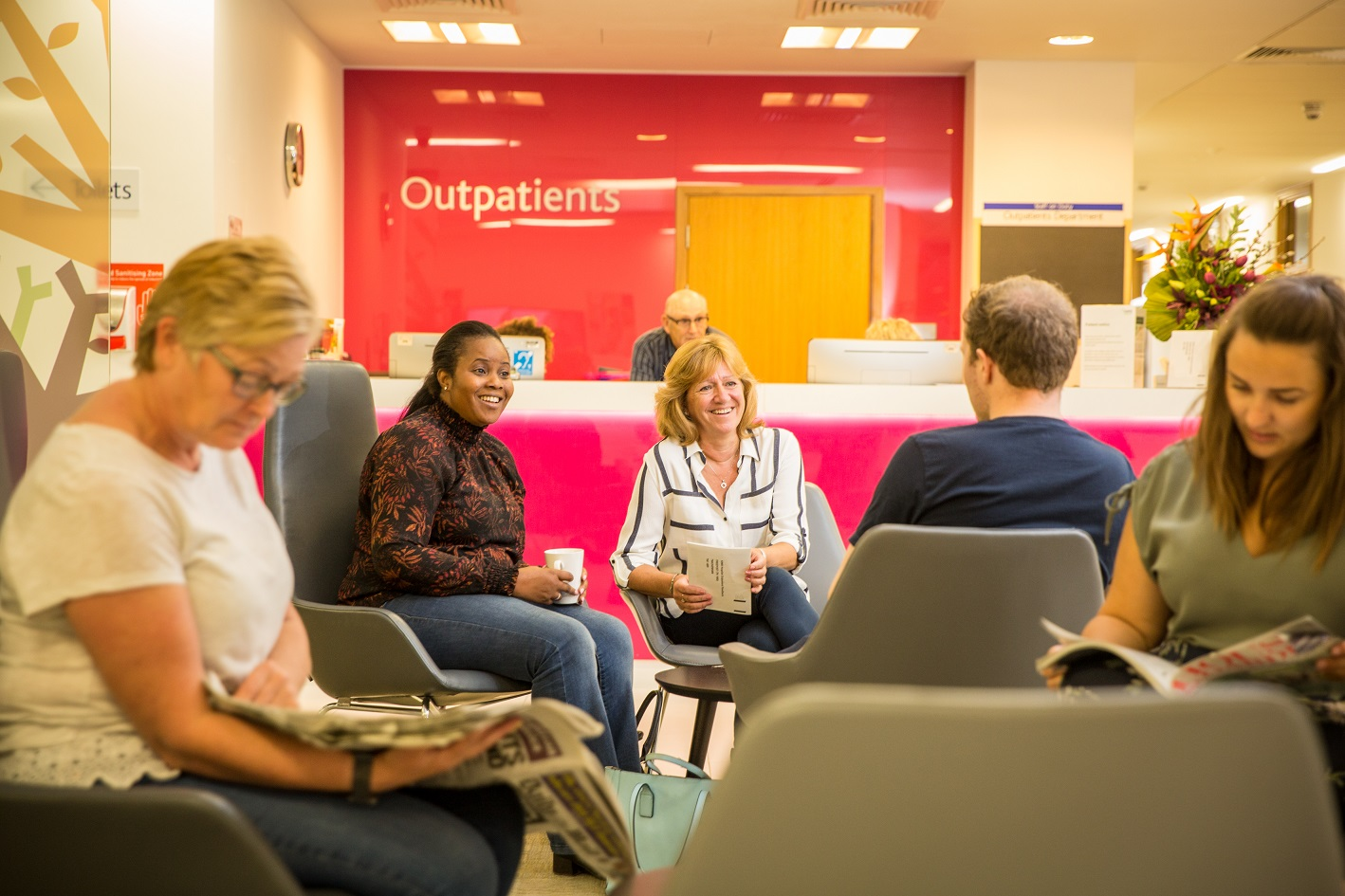 patients waiting in the outpatients department